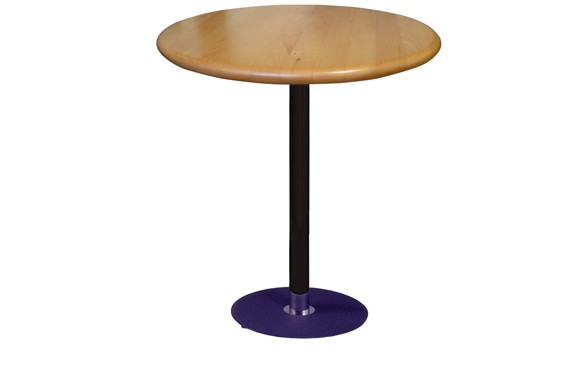 Restaurant Round Bar Table with 42 inch Height Base and Wood Table Top