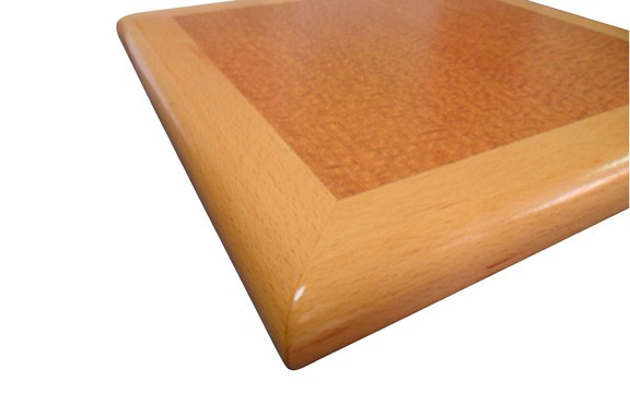 Restaurant Table Top with Rolled Wood Edge