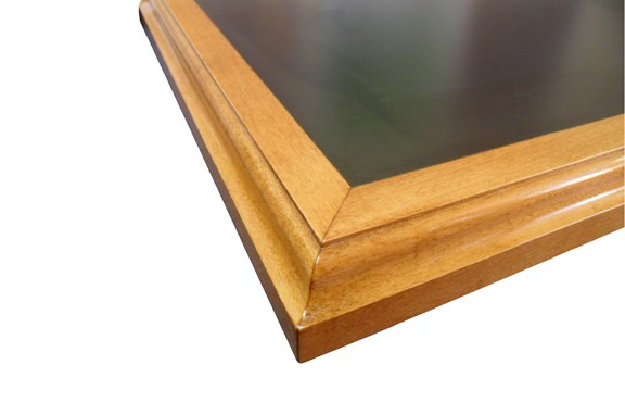 Restaurant Table Top with Waterfall Wood Edge