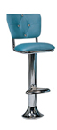 1500-921DT - New Retro Dining Revolving Grooved Ring Fountain Stool with Diamond Tuft Back and Ring Footrest