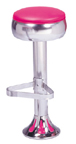 1700-781 - New Retro Dining Bulged Ring Fountain Stool with Tear Drop Base