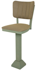 Click Here for Information on the 1800-OX-30 Oxford Pedestal Base Return Swivel Channel Back Stool