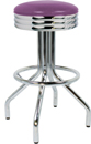 "250-49NS - New Retro Dining 24"" or 30"" Revolving Spider Leg Barstool with Scalloped Ring"
