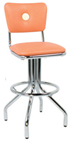 "250-921BB - New Retro Dining 24"" or 30"" Revolving Spider Leg Barstool with Button Back"