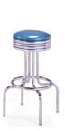 "264-782 - New Retro Dining 24"" or 30"" Revolving Single Ring Barstool with Grooved Ring"