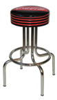 "264-782FT - New Retro Dining Fishtail Coke 24"" or 30"" Revolving Single Ring Barstool with Grooved Ring"