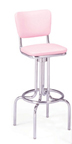 "264-921 -New Retro Dining 24"" or 30"" Revolving Single Ring Barstool with Smooth Back"