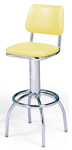 "300-530 - New Retro Dining 24"" or 30"" Revolving Arch Leg Barstool with Back"