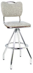 "400-921HB - New Retro Dining 30"" Revolving Pyramid Base Handle Back Upholstered Seat Barstool."