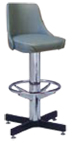 "500-242WF - New Retro Dining 24"" or 30"" Barstool with Bucket Seat and Cross Feet"