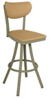 Click Here for Information on the 600-OX-40 Oxford Free Standing Swivel Banana Back Stool