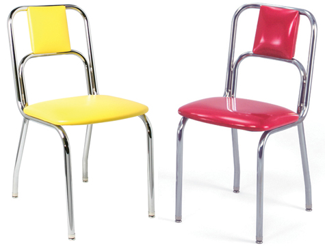 934 Red and Yellow Diner Chair