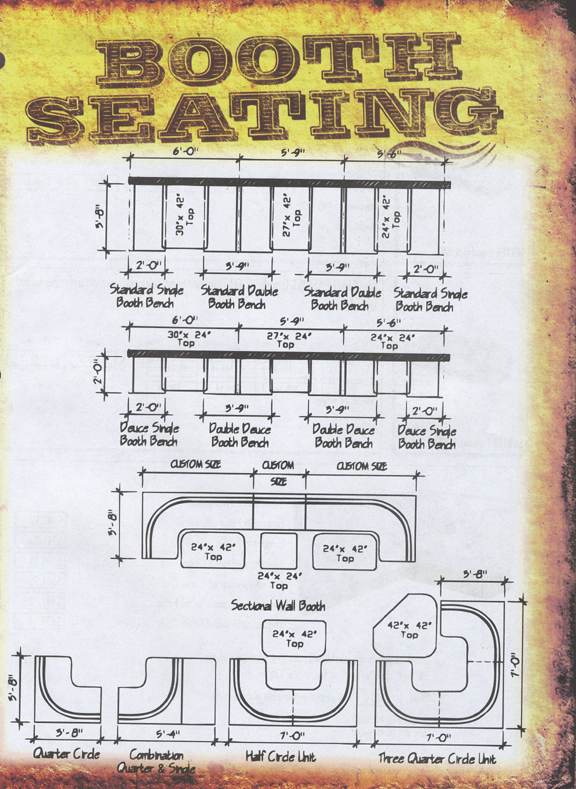 Booth Seating Layout Options