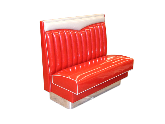 Chevy Bench, 36' Ht. Polaris Red Planet Vinyl