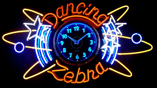 "Custom Retro 25"" Neon Clock"