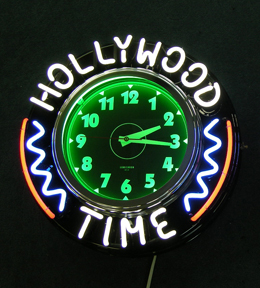 New Retro Custom Neon Clock - 20 inch case