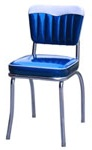 4199-4299 Heavy Duty (14 AWG) Retro Diner Chair - Chevy Head Roll with Hand Sewn Roll N Pleat Back
