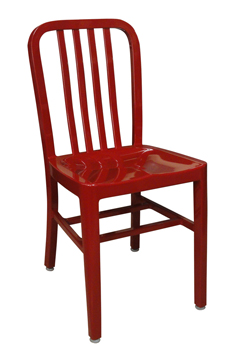 HPN-100 Aluminum Chair Painted Red