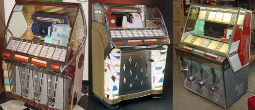 Click Here to View Our Current Selection of Seeburg Jukeboxes and 45 Records
