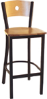 LSC-1550 Wooden Moon Back Barstool