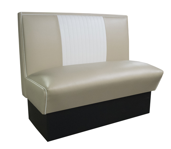 MB-4300 Malibu Bench - Tan and White