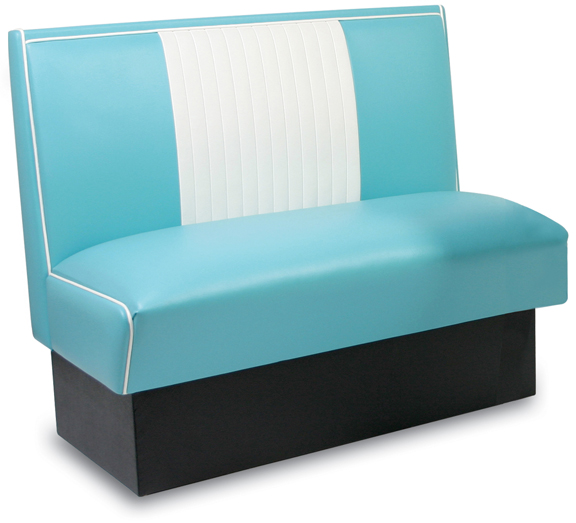 MB-4300 Retro Malibu Bench in Grade 1 Aqua