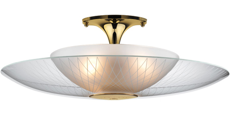 Click on Image for a Large View of the LH-22 Retro Space Age Flush Mount Light Fixture