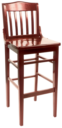 WLS-1180-BS New Retro Dining Woodland Schoolhouse Syle Bar Stool.