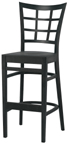 WLS-1200-BS Woodland Latticeback Stool.