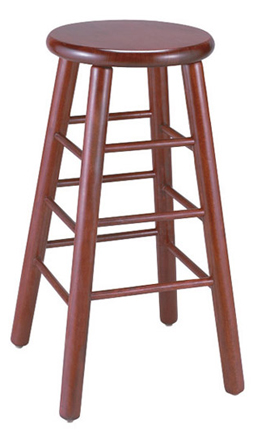 WLS-1310-BS New Retro Dining Woodland Backless Stool.