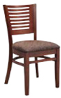 WLS-145 Horizontal 6 Slat Wood Chair