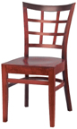 WLS-200 New Retro Dining Woodland Lattice back Chair..