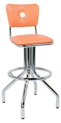 250-921BB Retro Spider Leg Bar Stool with Button Back