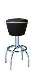 "300-161 - New Retro Dining 24"" or 30"" Revolving Arch Leg Barstool with Upholstered Drum Seat"