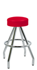 "400-125R - New Retro Dining 30"" Revolving Pyramid Base Upholstered Ring Seat Barstool"