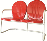new retro metal love seat red bellaire lawn chair patio furniture